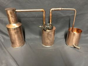 Small Copper Moonshine Still With Thump Keg. 1 Quart Size ...