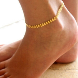 Image Is Loading Womens Arrow Ankle Bracelet Anklet Bar Chain Link