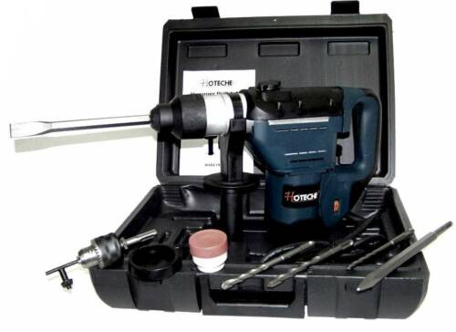 """1-1//2/"""" HAMMER DRILL 1.5 HP 11 PC SDS DRILL BITS ELECTRIC DEMOLITION POWER TOOL"""
