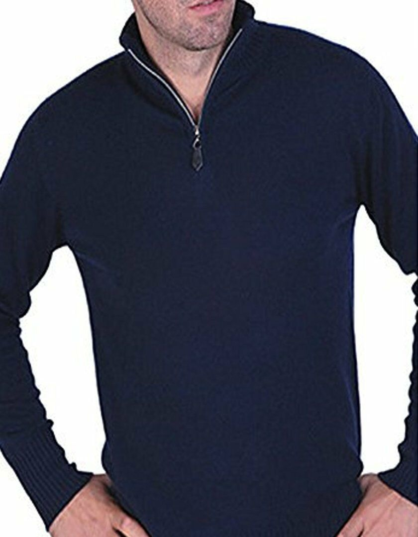 Balldiri Balldiri Balldiri 100% Cashmere Cashmere Uomo Pullover Troyer 2 fädig duneklblu S 2858b0
