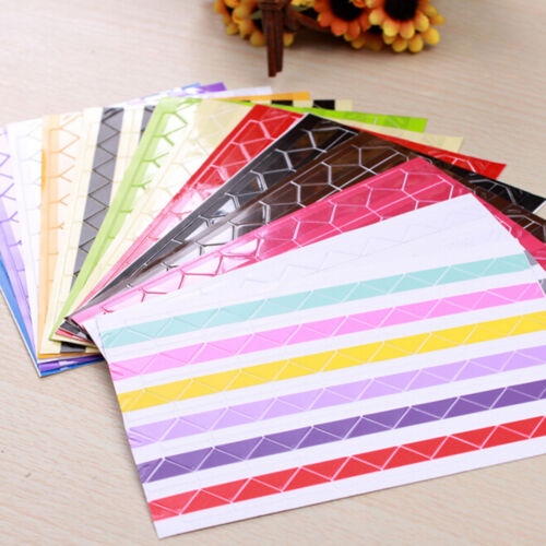408 pcs Self-adhesive Photo Corner Stickers scrapbook album essential ha