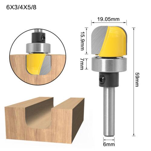 1//4 6mm Shank Profiling Deep Round Bottom Tool Slotted Tool Arc Bottom