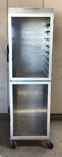 Aluminum Full Size Bun Sheet 18 Pan Cart Cabinet Display Enclosed Mobile Holding
