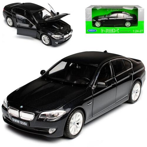 BMW 5er F10 535i Limousine Schwarz 2010-2017 1//24 Welly Modell Auto mit oder ohn