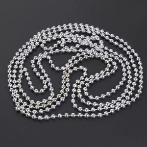 SILVER-BEAD-CHAIN-GARLAND-CHRISTMAS-TREE-HANGING-DECORATION-TABLE-WEDDING-24FT