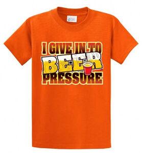 Beer pressure printed tee shirt for men in big and tall for Big and tall printed t shirts