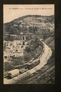 Postcard-Antique-Morez-Avenue-Station-And-Morez-le-Bas