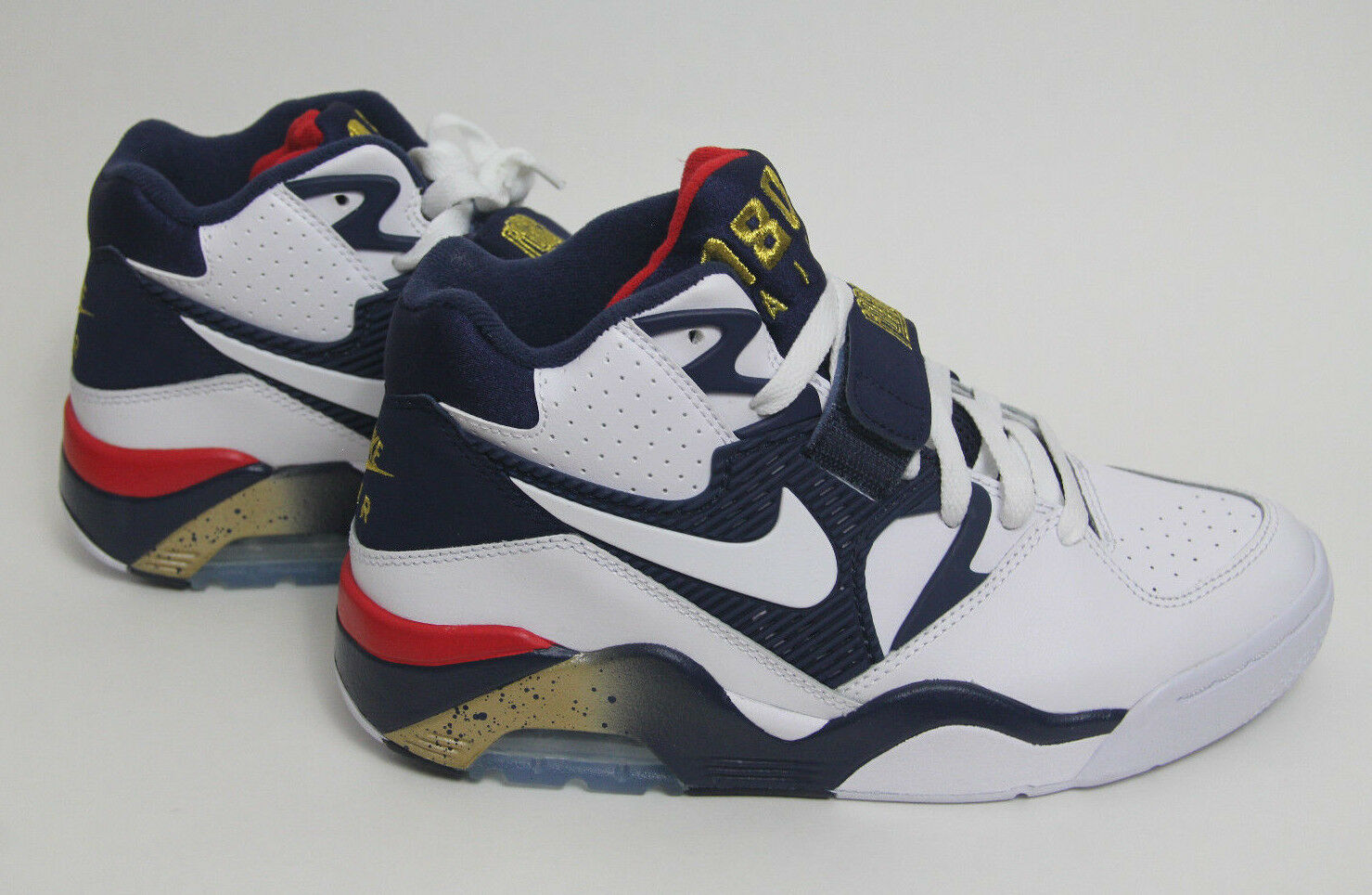New Size 6 Nike Air Force 180 Olympic Mens 310095 100 White Navy Shoe sneaker