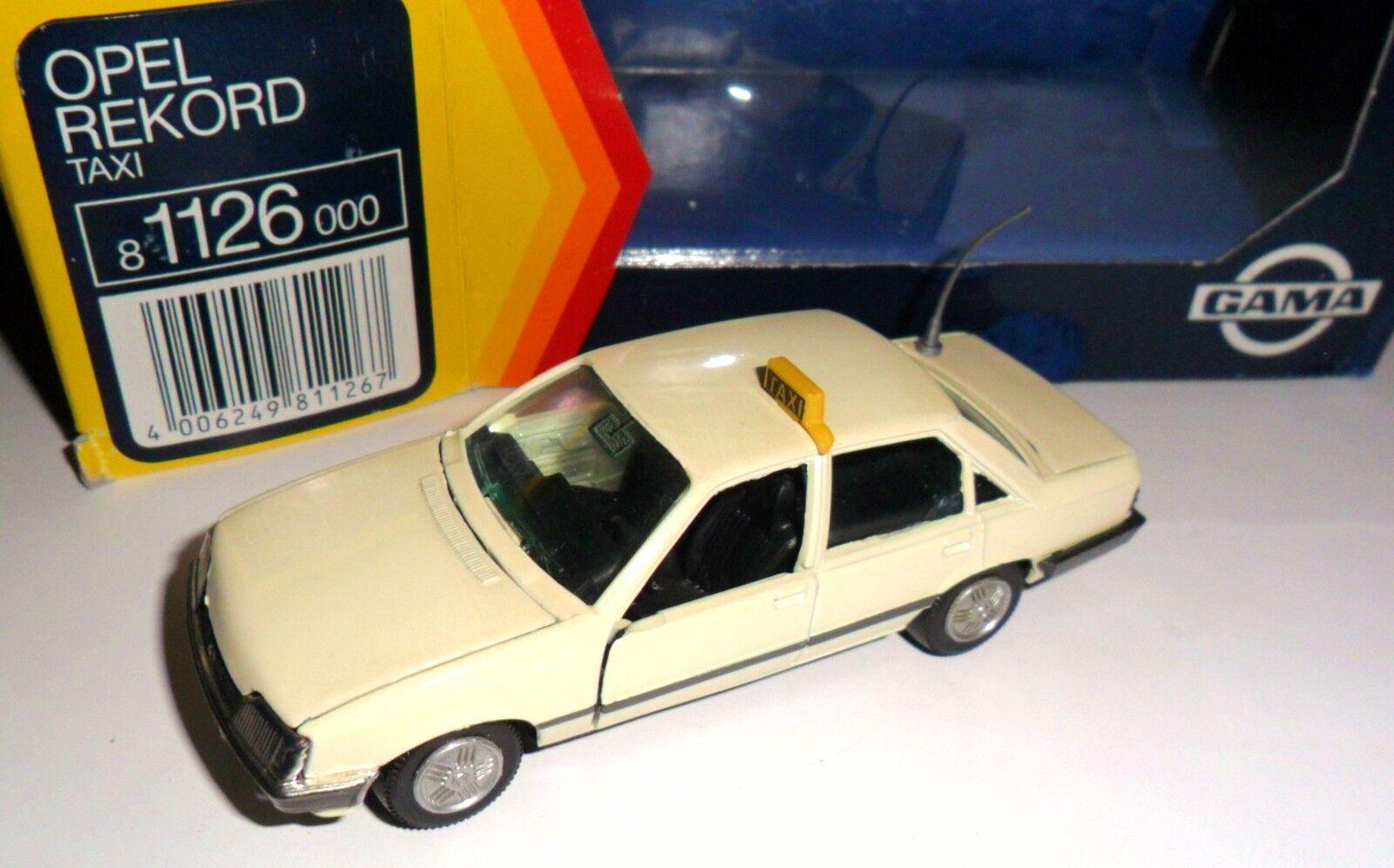 Opel Rekord E (E2)  TAXI TAXI TAXI  taxa taxis (Germany), GAMA in 1 43 ovp ALT  55adcb