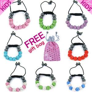Shamballa-For-Kids-Crystal-Bracelet-Small-Baby-Ball-Cute-Gift-Charm-Children