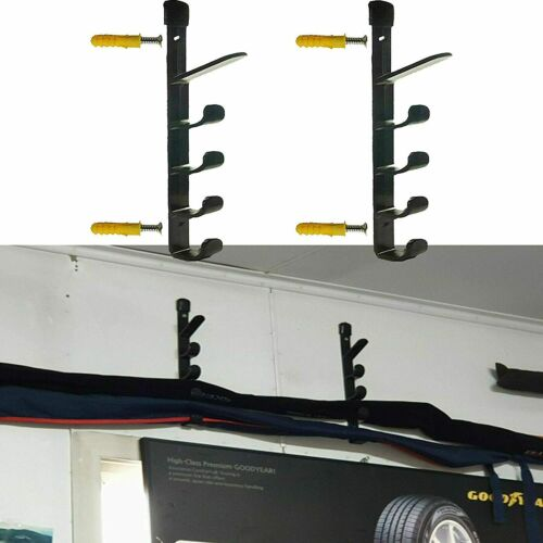 Fishing Rod Pole Reel Holder Garage Wall Mount Rods Rack Organizer Storage US