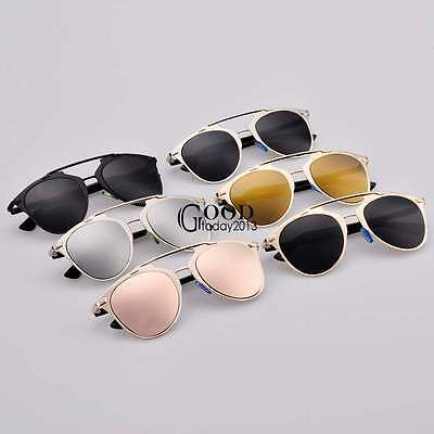 Unisex Men Women Cat Eye Mirror Vintage Retro Oversized Sunglasses Eyewear TXGT