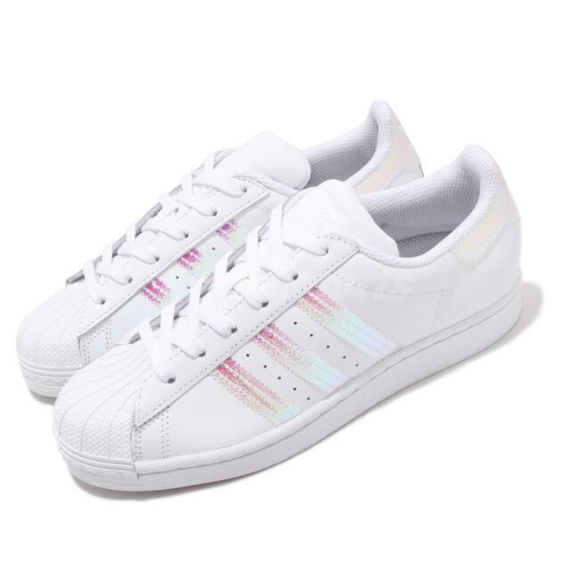 adidas Originals Superstar J White Iridescent Kid Junior Women Shoes FV3139
