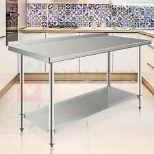 24 X 60 Stainless Steel Nsf Commercial Prep Work Food Table With Backsplash