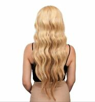 100% Human Blend Hair Wig Long Wavy Full Remy Touch With Bang Loose Wave Women