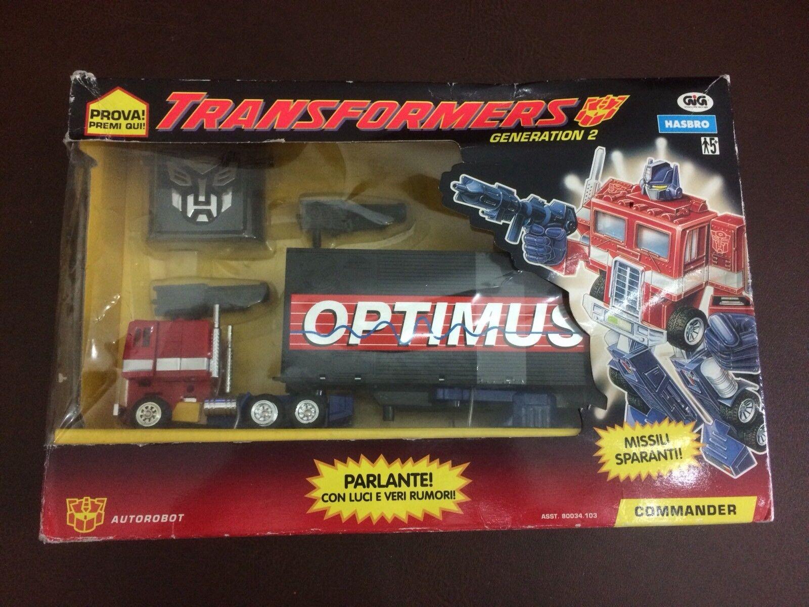 Transformers G2 - Optimus Prime - Gig - Fondo Di Magazzino - Mancante Braccio Sx
