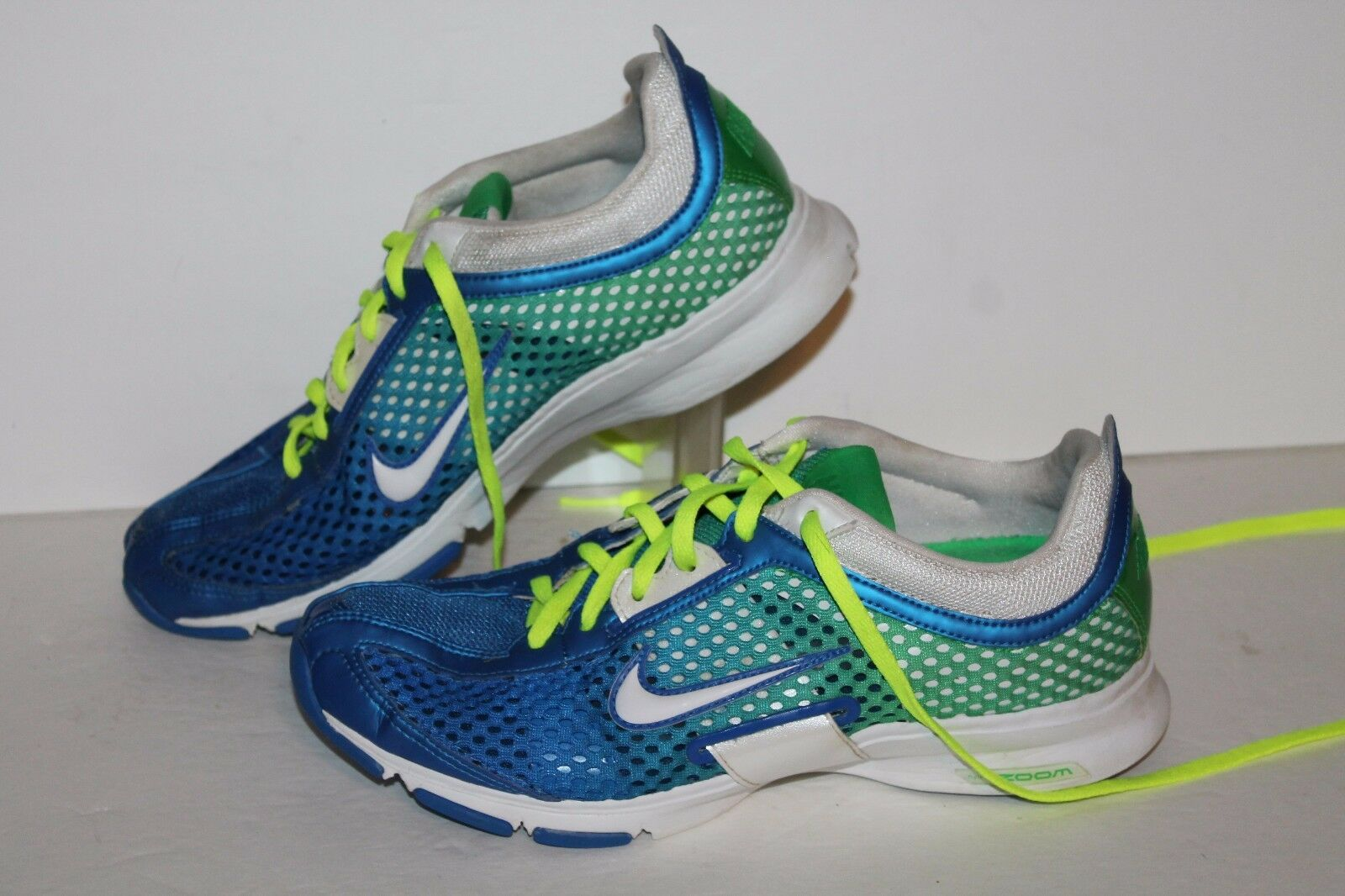 Nike Zoom Trainer Essential Running Shoes, Royal/Green, Womens US 7 Cheap women's shoes women's shoes