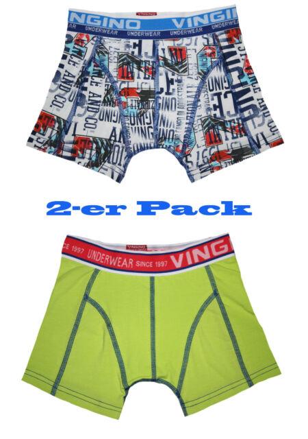 VINGINO Boxershorts Unterhose Gr. XS ( 110 - 116 ) B142-4 VINCE 2-PACK  Neu