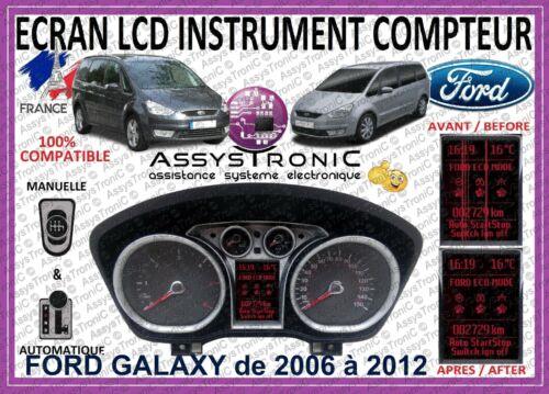 ÉCRAN AFFICHEUR LCD OBD pour COMPTEUR *** FORD GALAXY de 2006 à 2012 *** 48H !!