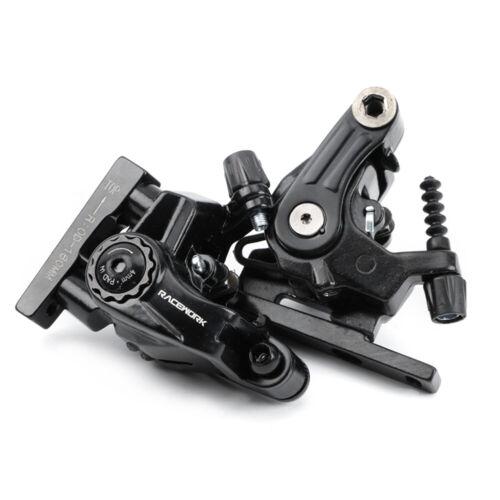 RACEWORK Disc Brake Calipers MTB Bicycle Speed Clip Dual Disc Brake Set W// Rotor