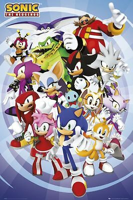 Sonic - Characters Poster #49 61x91.5cm. FAST 'N FREE DELIVERY