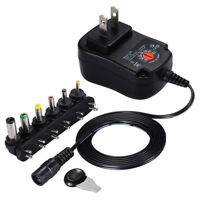 Universal AC/DC Adapter UK Plug Fast Charger Black Adaptor 3/4.5/6/7.5/9/12V New