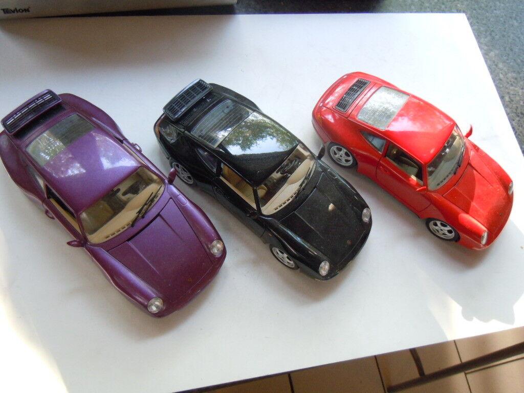 3 x RARE PORSCHE 911 (993) CARRERA coupé modèles de Bburago en 1:18 | Forme élégante