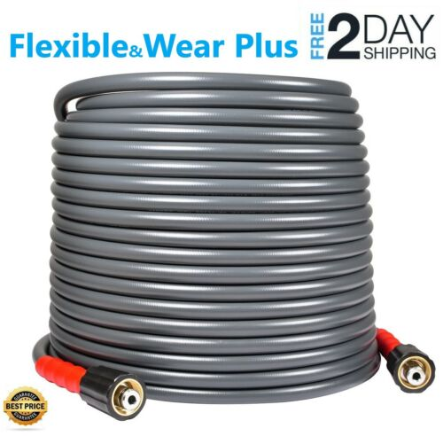 """YAMATIC⭐ 3200 PSI 50 FT Pressure Washer Hose Flexible 1//4/"""" X M22-14mm ⭐"""