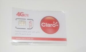 Details about Claro Sim Card Dominican Republic Travel 3in1 Size - 150  PESOS Preloaded Prepaid