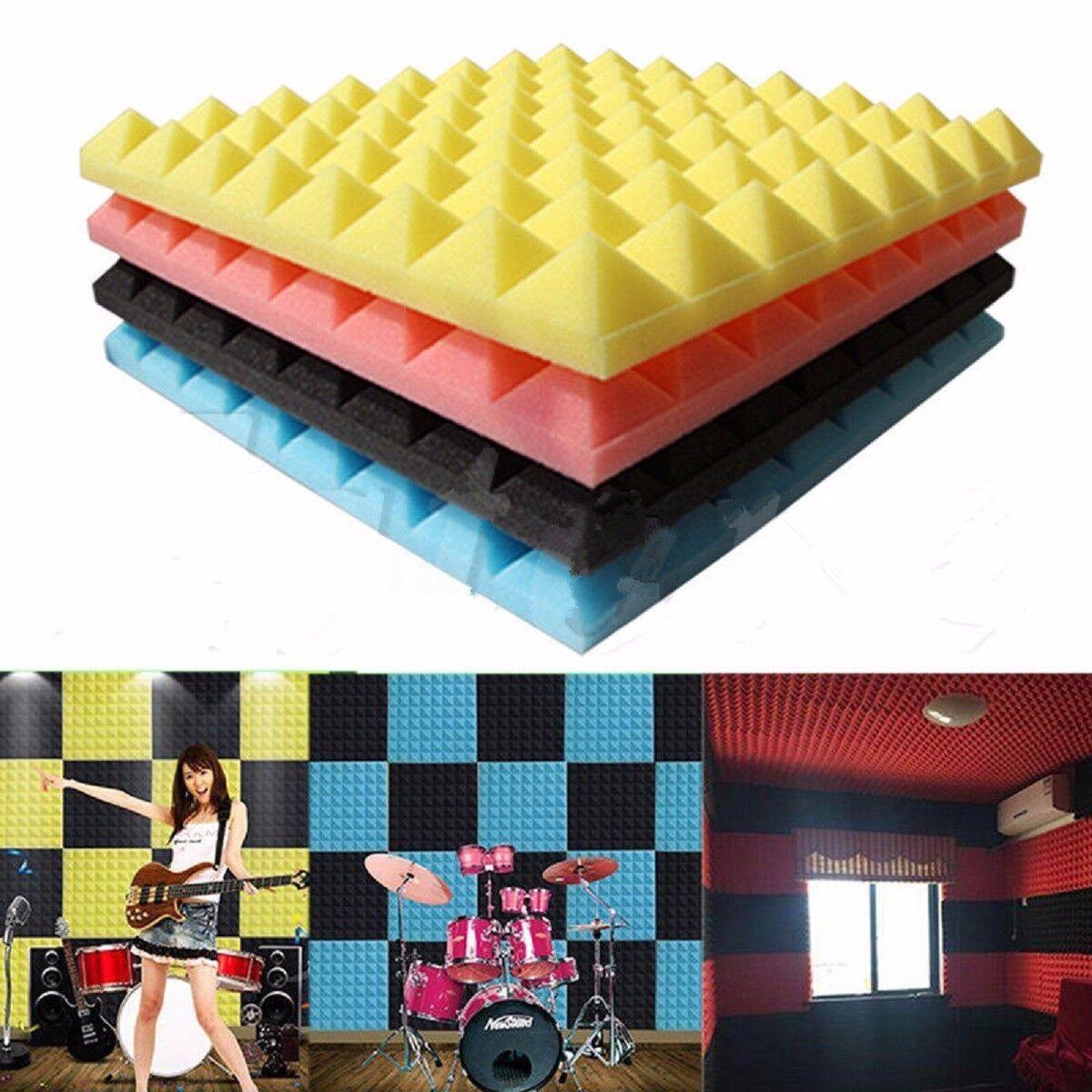 Acoustic Panels Tiles Sound Proof Absorption Flame Retardant PE Foam Room Decor 4