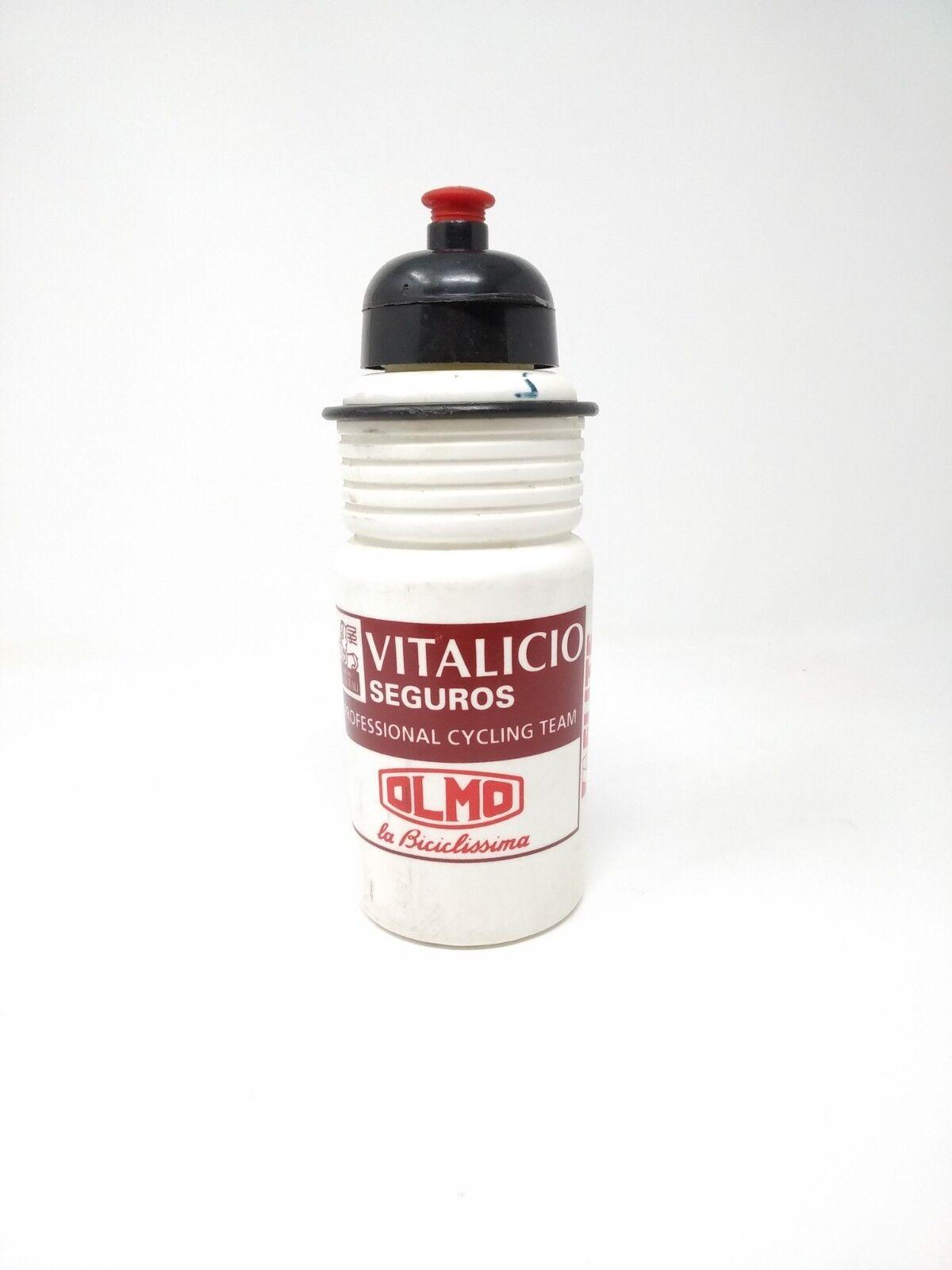 Vintage borraccia bottle elite Olmo Vitalicio seguros  pro Cycling team original