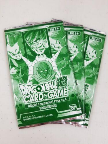 Dragon Ball Super tcg Official Tournament Pack Vol 4 x3