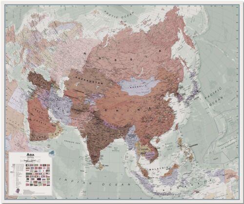Executive Asien Landkarte Politisch Poster für Office Größe /& Finish-Optionen