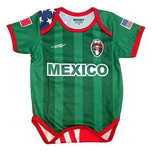 09a50c40c54 Mexico and USA Baby Outfit Mameluco New W O Tag Arza Socce Sizes 3 ...