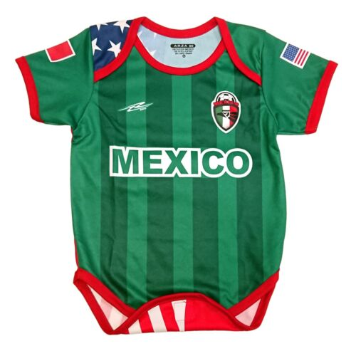 Mexico and USA  Baby Outfit Mameluco New W//O Tag Arza Socce Sizes 3 to 12 Months