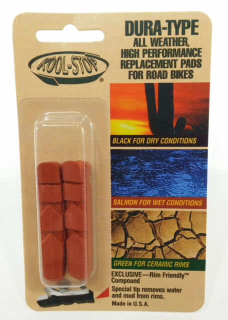 Kool-Stop Mafac Tandem Replacement Brake Pad Set Front /& Rear Salmon