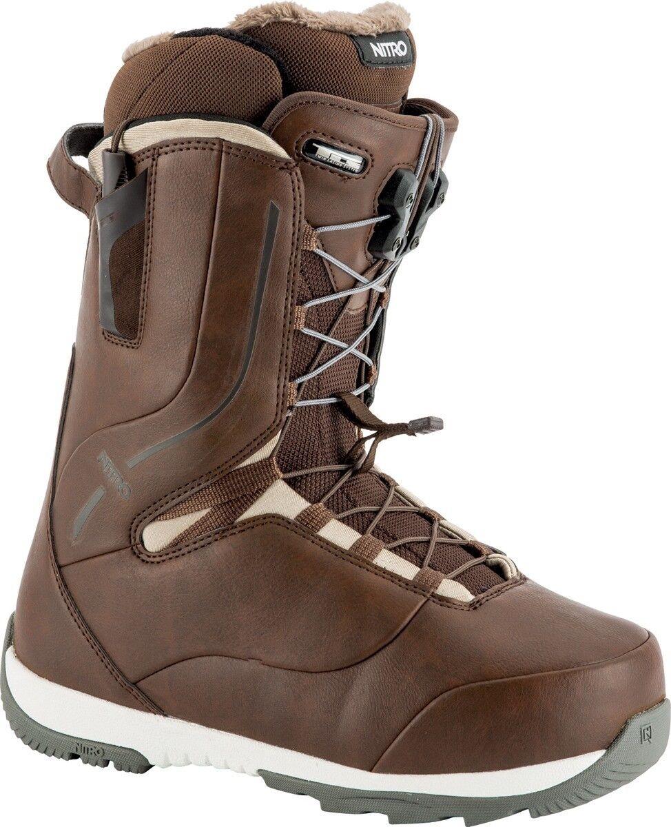 New 2019 Nitro Crown TLS Snowboard Boots Womens 9 Brown