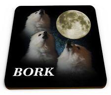 Gabe The Dog 'Bork' Funny Novelty Glossy Mug Coaster