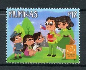Filippine-2017-Gomma-integra-non-linguellato-Il-Mio-Insegnante-IL-MIO-EROE-insegnanti-mese-1v-Set-di