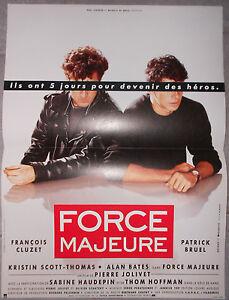 Affiche-FORCE-MAJEURE-Francois-Cluzet-PATRICK-BRUEL-40x60cm