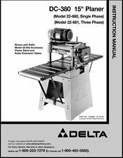 Delta Planer 22-680 / 22-681 DC-380 Instruction Manual