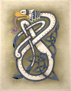 Image Is Loading Celtic Art Print Wolf Animal Totem Wall Decor