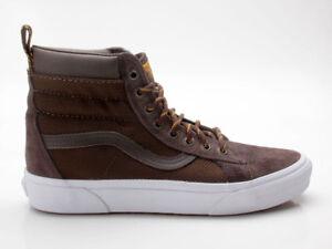 Details zu Vans Sk8 Hi MTE Winter Sneaker Schuhe VN0A33TXOQ0 braun weiß