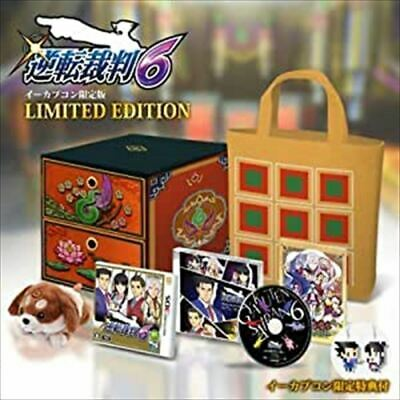Ace Attorney 6 Ecapcon benefits only CD plush toy bag limited F//S JAPAN