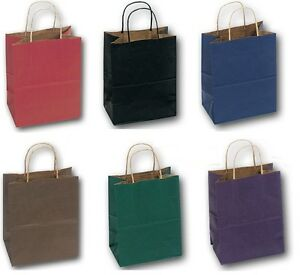 50 Paper Bags With Handles Wholesale Recycled Paper Bags