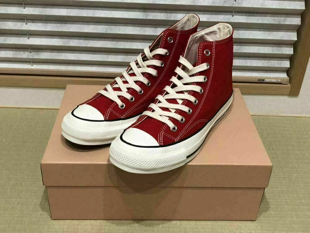 CONVERSE Addict CHUCK TAYLOR Hi Rouge Homme paniers Chaussures Taille 7 1 2 US