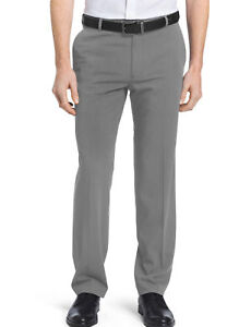 13849ae8 Details about Van Heusen Men's Flex Straight Fit Flat Front Non Iron Pant  Gray Size 30 - 40
