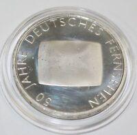 10 EURO Münze Deutschland BRD 50 Jahre Deutsches Fernsehen Silber 2002