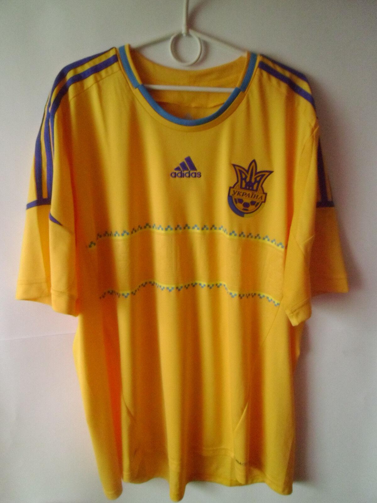 EXCELLENT    2011-13 Ukraine Home Shirt Jersey Trikot XXL 2XL