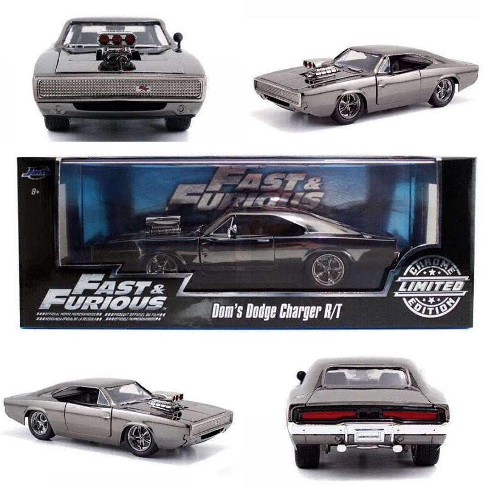 exclusivo Fast & Furioso Dom's Dodge Cochegador R T Cromo Cromo Cromo Limited 1 24 Diecast Jada 97443  Mercancía de alta calidad y servicio conveniente y honesto.